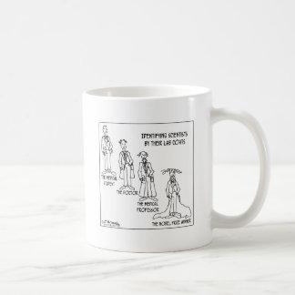 Guía de la identificación a los científicos taza de café