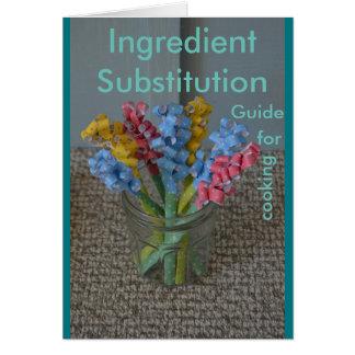 Guía de la substitución del ingrediente para tarjeta pequeña