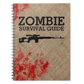 Guía de supervivencia del zombi divertida libretas
