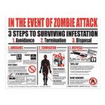Guía de supervivencia del zombi - más allá de esta postales