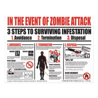 Guía de supervivencia del zombi - más allá de tarjetas postales