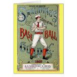 Guía del béisbol del vintage tarjetón