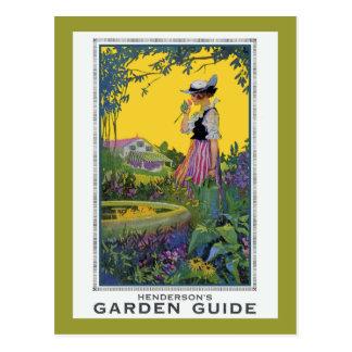 Guía del jardín de Henderson del vintage Tarjeta Postal