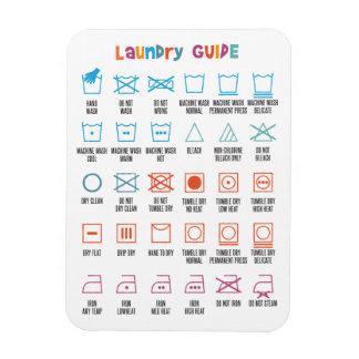 Guía del símbolo del lavadero imán flexible