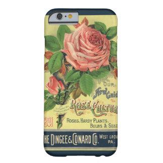 Guía del vintage al arte color de rosa de la funda barely there iPhone 6