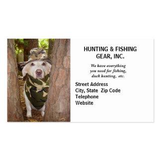 Guía engranaje de la caza plantilla de tarjeta de visita