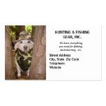 Guía/engranaje de la caza plantilla de tarjeta de visita
