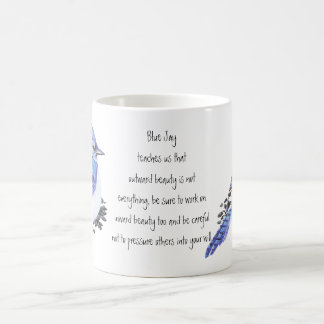 Guía inspirada de la naturaleza del arrendajo azul tazas de café