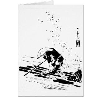 Guía japonesa del río felicitaciones