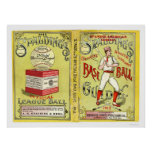 Guía oficial 1913 del béisbol posters