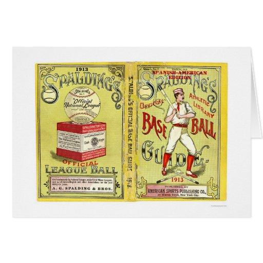Guía oficial 1913 del béisbol tarjeta de felicitación