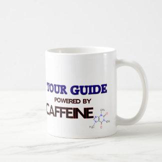 Guía turístico accionado por el cafeína taza básica blanca