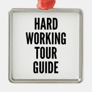 Guía turístico de trabajo duro ornamente de reyes