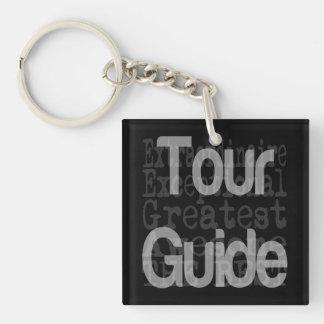Guía turístico Extraordinaire Llavero Cuadrado Acrílico A Doble Cara
