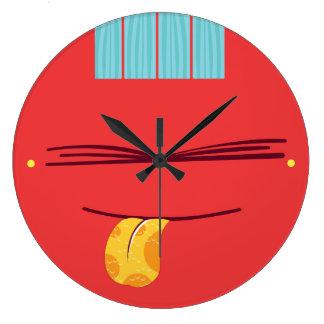 Guiara_clock bad education reloj redondo grande