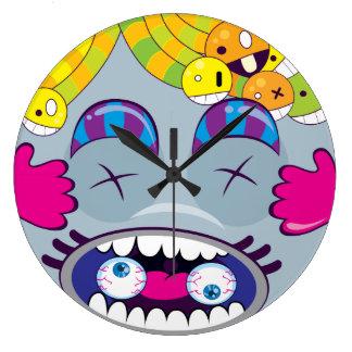 Guiara_clock look monster reloj redondo grande