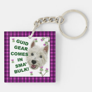 Guid Gear Comes In Sma' Bulk! Double-Sided Square Acrylic Keychain