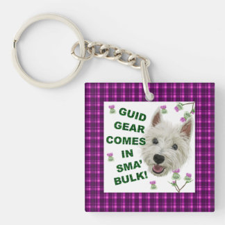 Guid Gear Comes In Sma' Bulk! Single-Sided Square Acrylic Keychain