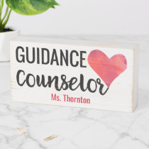 Guidance Counselor Desk Personalized Name Wooden Box Sign