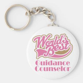 Guidance Counselor Gift Basic Round Button Keychain