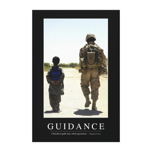 Guidance: Inspirational Quote Canvas Prints