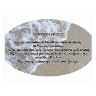 Guidance prayer postcard