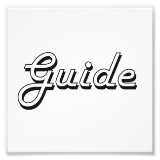 Guide Classic Job Design Photo Print