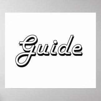 Guide Classic Job Design Poster