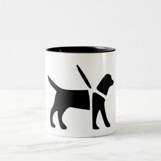 Guide Dog Black 11 oz Two-Tone Mug