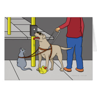 Guide Dog Guide (A Visual Gag) Card
