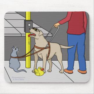 Guide Dog Guide (A Visual Gag) Mousepad
