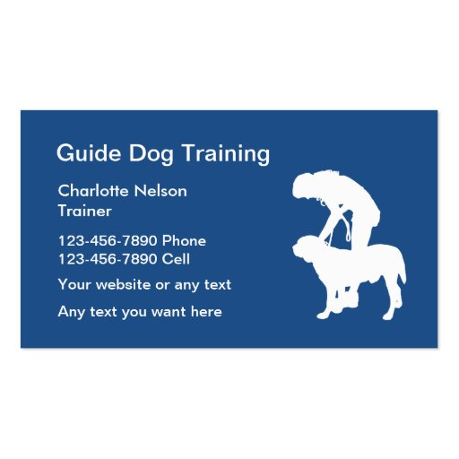 Guide dog training business card zazzle for Dog trainer business card