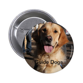 Guide Dogs Badge 2 Inch Round Button
