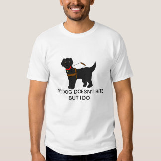 Guide Dogs Don't Bite (Black, smooth) Shirt