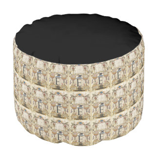 Guide for Constructing the Letter E Round Pouf