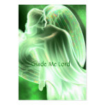 Guide Me Lord - Green Angel Prayer Card Large Business Cards (Pack Of 100)