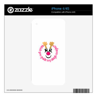Guide My Sleigh Tonight? iPhone 4S Decal