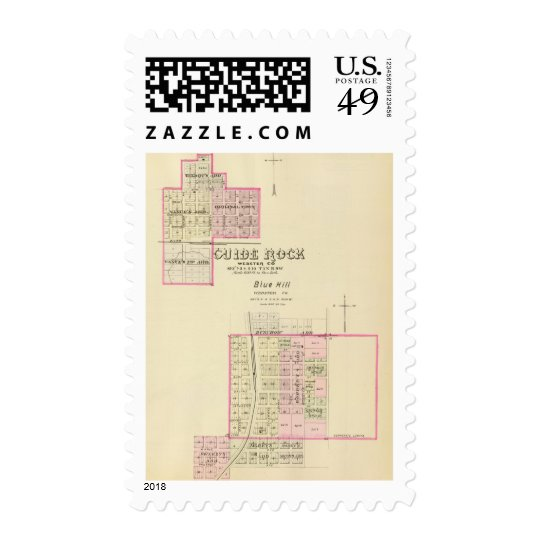 Guide Rock and Blue Hill, Nebraska Postage