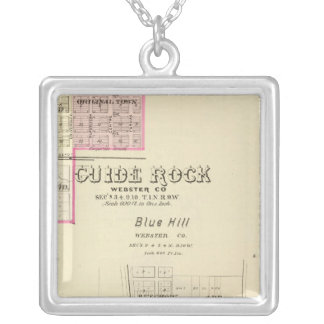 Guide Rock and Blue Hill, Nebraska Silver Plated Necklace