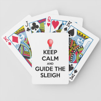 Guide the Sleigh Bicycle Playing Cards