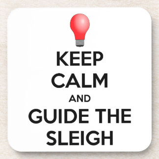 Guide the Sleigh Drink Coaster