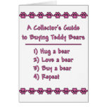 Guide to Buying Teddy Bears Greeting Card
