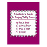 Guide to Buying Teddy Bears Postcard