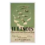 Guide To Illinois 1940 WPA Poster