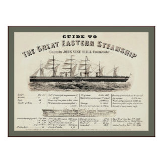 Guide To The Great Eastern Sea Ship Poster