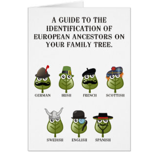 Guide To The Identification Of European Ancestors Greeting Cards