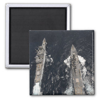 Guided-missile destroyer USS Gridley 2 Inch Square Magnet