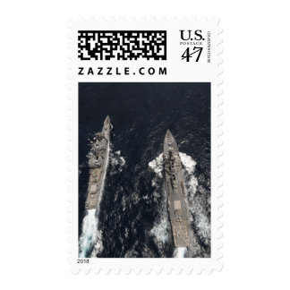 Guided-missile destroyer USS Gridley Stamp