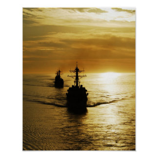Guided Missile Destroyers, USS Kidd, USS Preble Poster
