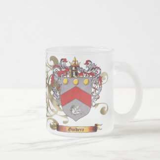 Guidera Coat of Arms 10 Oz Frosted Glass Coffee Mug